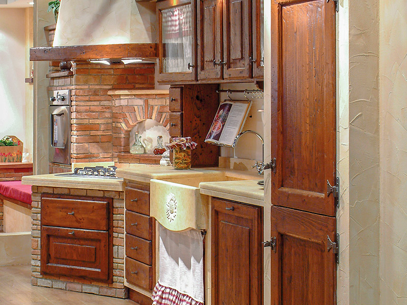 Caminetti Carfagna Cucine rustiche - Cucina Acacia - Bastia Umbra ...