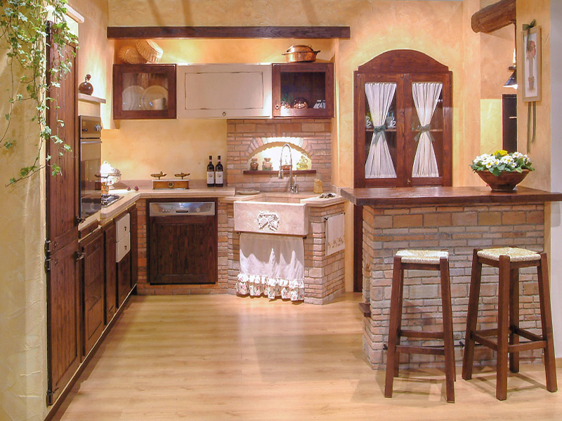 Caminetti carfagna cucine rustiche cucina edera bastia - Cucine rustiche in muratura e legno ...