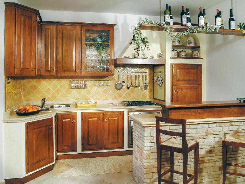 Caminetti carfagna cucine rustiche cucina fiordaliso - Cucine rustiche in muratura e legno ...