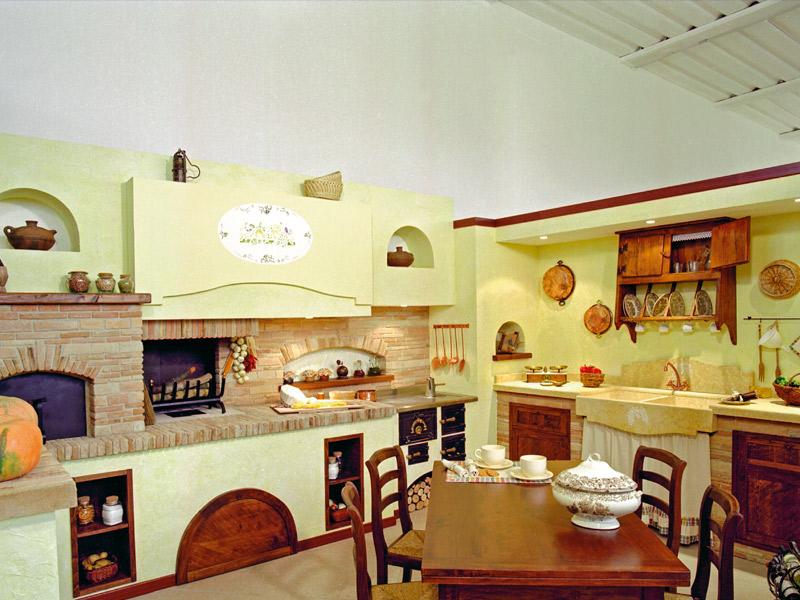 Caminetti carfagna cucine rustiche cucina lilium - Cucina rustica per taverna ...