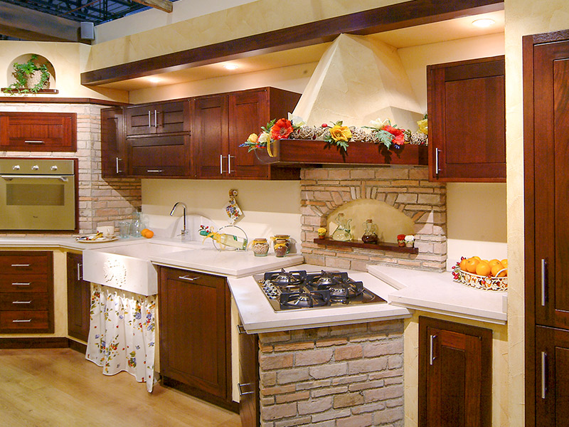 Caminetti carfagna cucine rustiche cucina tulipano for Piani di casa di montagna con seminterrato sciopero