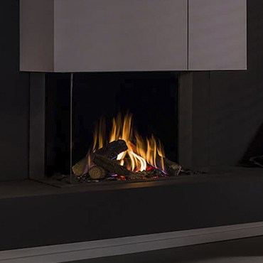 Caminetto a Gas Trimline Fires 83 Panoramic dal design contemporaneo